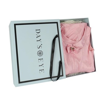 luxury matte dress clothing sliding paper box packaging