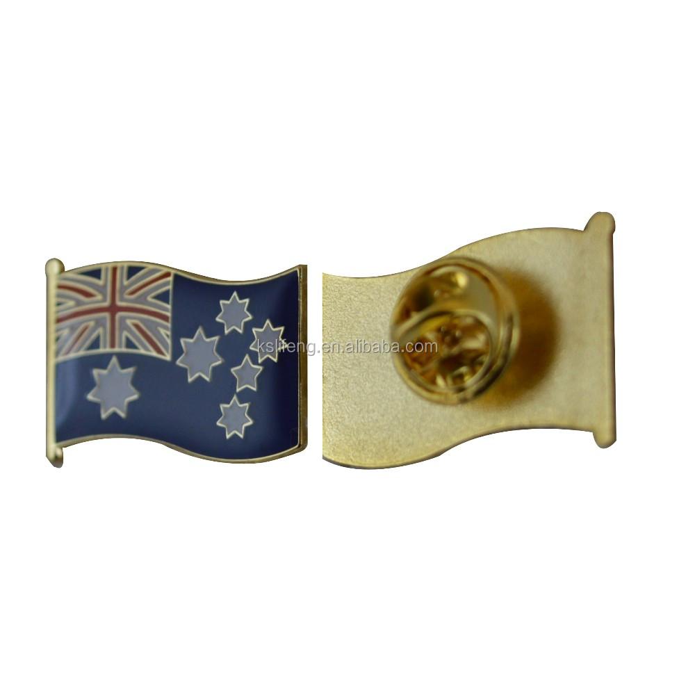 Hot Jual Kustom Emas Bendera Australia Bendera Kerah Pin Lencana