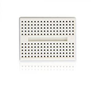 Puuli 2 Pcs/lot White Mini ABS Plastic Solderless Prototype Plug-in Breadboard Bread Board 170 Points for Arduino Shield, 45.5x34.5x9.5mm