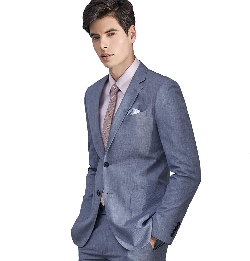 ba7b86972cc7 Get Quotations · Mens Suits Slim Fit 3 Piece,Light Blue Suit Set for Men