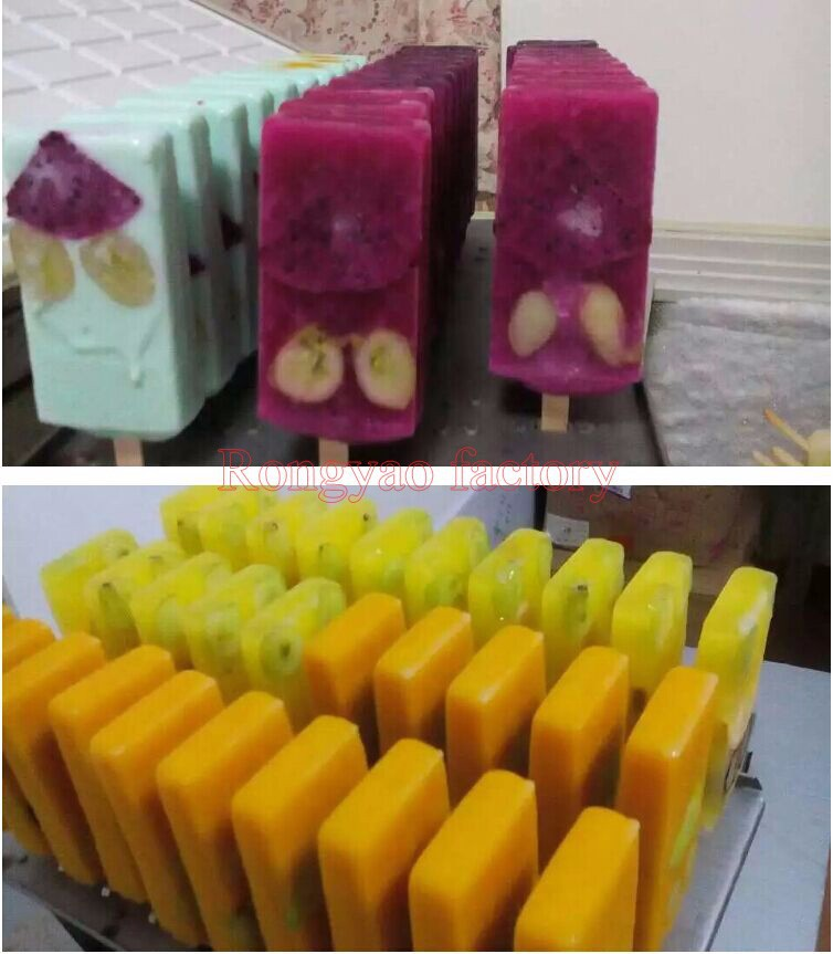 40pcs/Time Stainless Steel Delicious Popsicle Maker Machine Molds Hard Ice Cream Machine