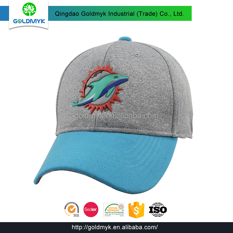Cotton jersey baseball cap with rubber logo