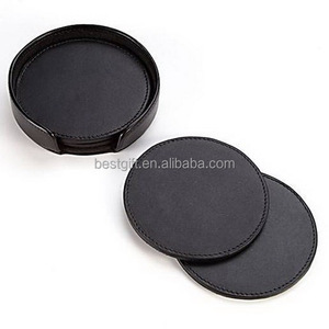PU leather round table mats coasters