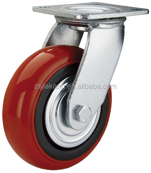 Heavy duty 6 inch PU machinery caster
