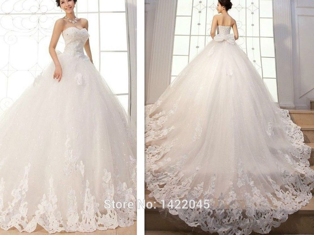 New Appliques Ball Gown Elegant Wedding Dresses Bridal