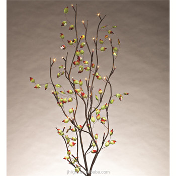uitstekende rode getipt verlichte takken met bruin boom en lovable bloem voor inrichting thuis accessoires decor