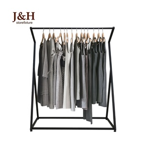 Wholesale bedroom hanging clothes hanger balcony landing drying clothes rack metal single pole vertical clothes hanger rack