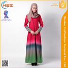 Zakiyyah MD034 Flower pattern wear for muslim women long sleeve dubai muslim prayer dress arabic ethnic silk thobe baju kurung