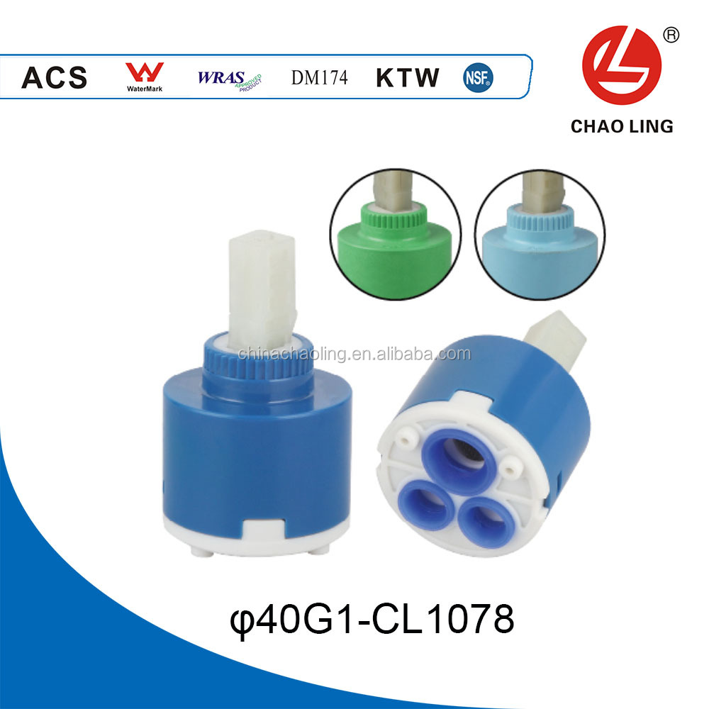 40mm flat base plastic chaoling ceramic faucet cartridge