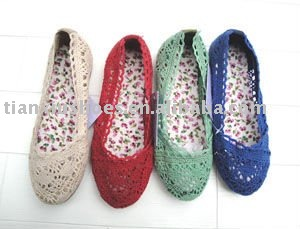 2012 girl's cheap weaving flat casual shoes