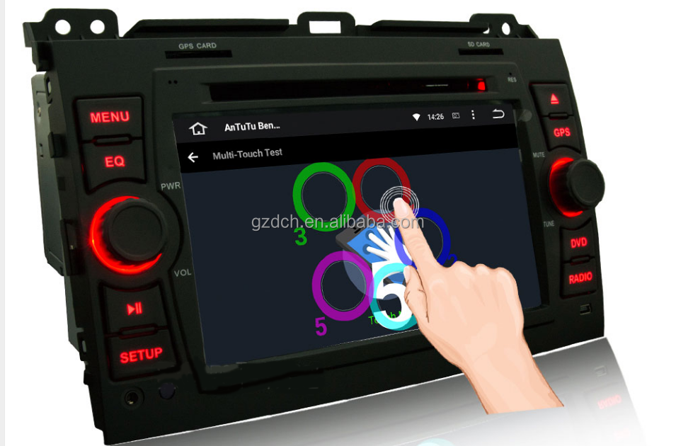 7 inch. Android 5.1 quad Core Car DVD Player FOR <strong>Toyota</strong> Land Cruiser <strong>Prado</strong> 120 2002 -2009 WS-9126