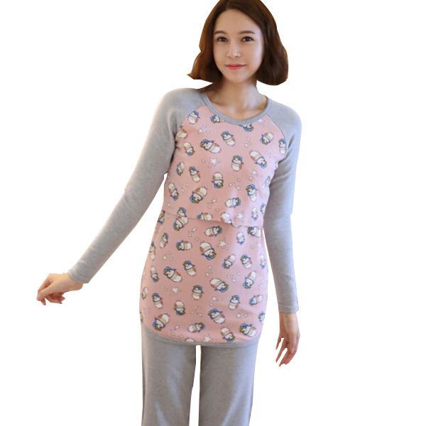 Fall Maternity Breastfeeding Nursing Shirts Long Sleeve Pregnant Women Tops Clothes Pregnancy Lactancia Pajamas Nightgown New