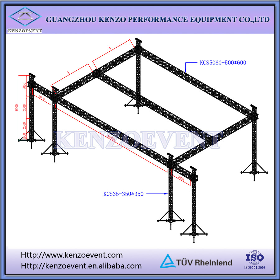 Aluminum lighting truss arched roof truss for events buy for Order roof trusses online