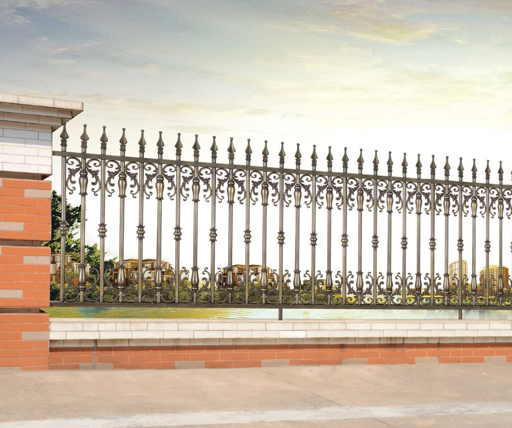 Latest Modern Cast Aluminum Fence/decorative Metal Garden Fence/philippines  Gates And Fences