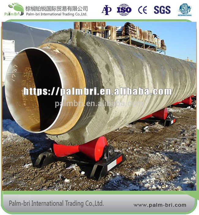 cement weight coating LSAW welding pipesused for natual gas and oil offshoe pipeline