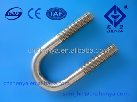 High Quality U Bolt With Washer And Nut Hot Dip Galvanized U Type Anchor Bolts Nuts And Washers Grade 4.8