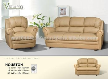 Vs Houston Clical Pu Sofa Leather Luxury
