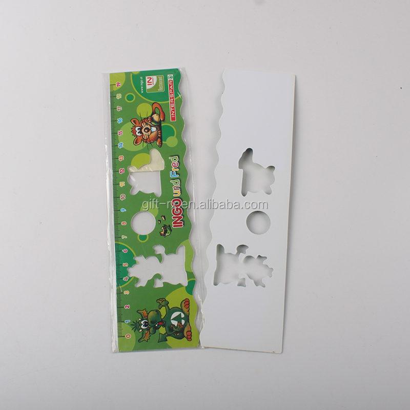 Chất lượng cao khuyến mại 30 cm thước nhựa với chèn giấy