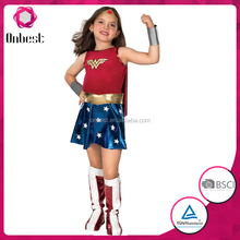 Girls Wonder Woman Costume amreican captain costume