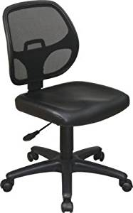 Avenue 6 Office Star EM2910V Mesh Screen Back Task Chair with Vinyl Seat