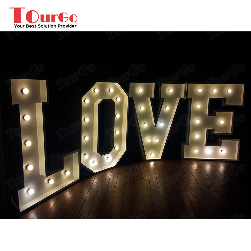 TourGo LOVE Large Metal Marquee Letters for Wedding Lights Decor Sign