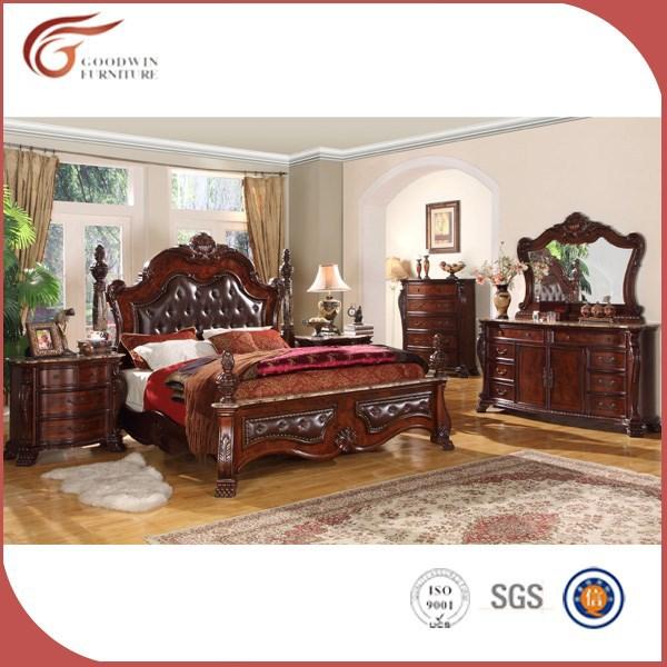 최고 품질의 나무 고풍스러운 침실 가구 세트, 왕실 침실 가구 ...