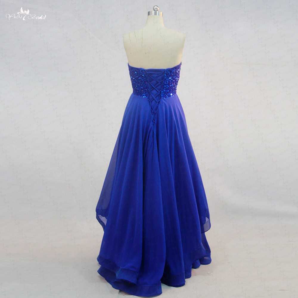 RSE722 Bambini Chiffon Lungo Royal Blue Notte Evening gown Prom Dresses Party Dress