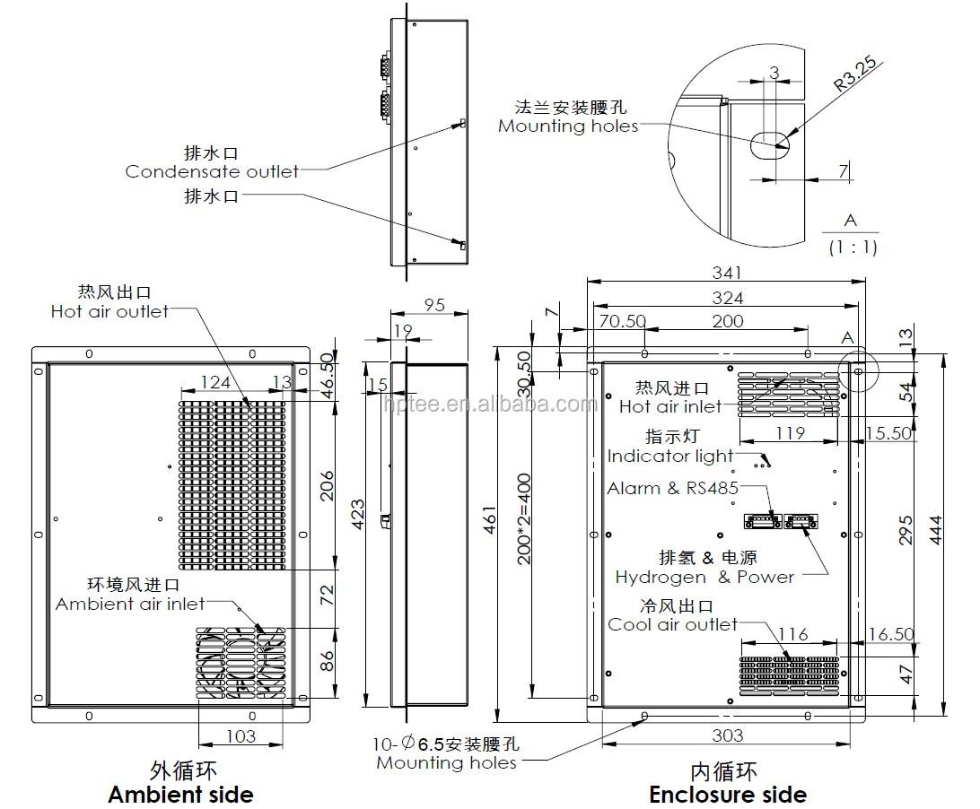 peltier cooler - 200w - cabinet air cooler