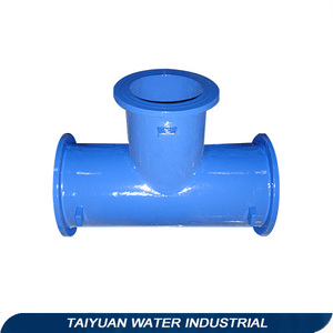 epoxy coated ductile iron pipe fitting--all flange tee