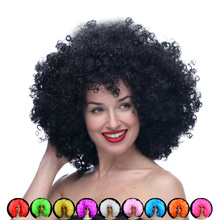 Freeshipping Oversized multicolour afro wig halloween hair accessory