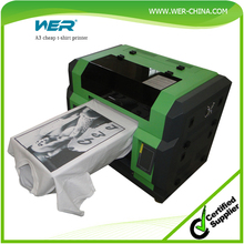 Cheap A3 t shirt WER E2000T printing machine, t-shirt printer prices