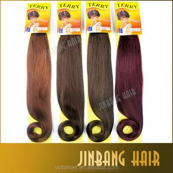 Crochet Hair Extension Jumbo braid 24inch Yaki Pony Tails Burgundy ...