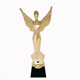 High quality elegant 3d Gold Unique Angel wings trophy Used for club gifts