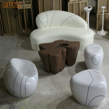 Attirant Fiberglass Modern Design Full Set Outdoor Furniture For Terrace  Sofa,chair,stool And Table