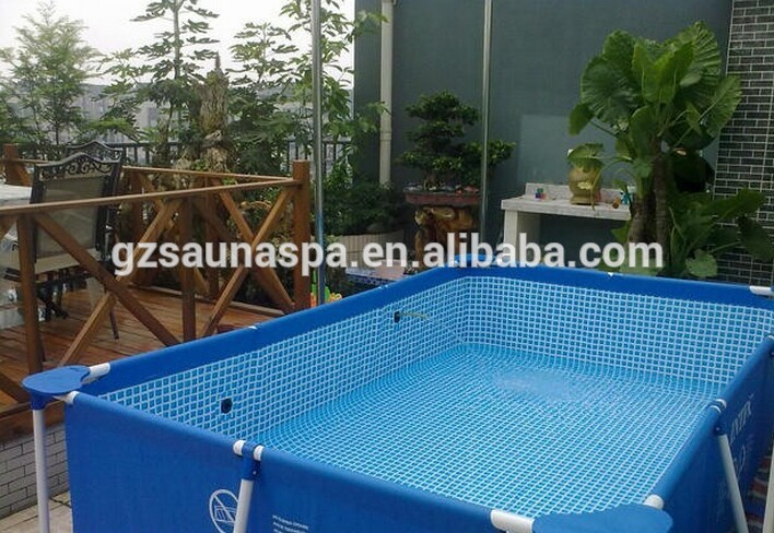 IntexRectangular Frame Inflatable Plastic Hot Swim Pool For Family