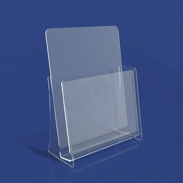 Clear Acrylic Single Pocket A4 Brochure Holder Display Racks