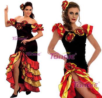 63896634df1b salsa rumba signore spagnolo messicano flemenco costume costume costumi di  carnevale per le donne