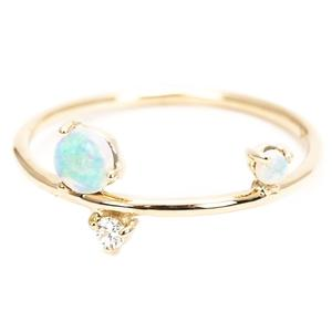 Gold Plated 925 Sterling Silver Thin Tiny Fire Opal Dainty Ring, Opal Stackable Rings