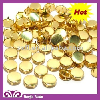 in product decorative metal stud studs detail flat nailhead spot gold round prong