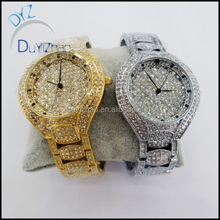 factory custom wholesale latest bling bling diamond watches custom diamond watches