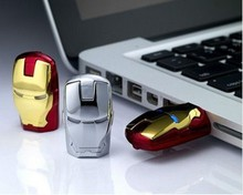 Gadget Iron Man Flash Drive With LED Light Real Capacity 1GB/2GB/4GB/8GB/16GB/32GB/64GB USB Flash Drive With Free Shipping