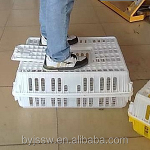 Plastic Live Chicken Transport Cage for Poultry Farm