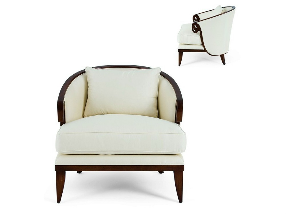 Gold round living room single sofa chair with simple for Living room single chairs