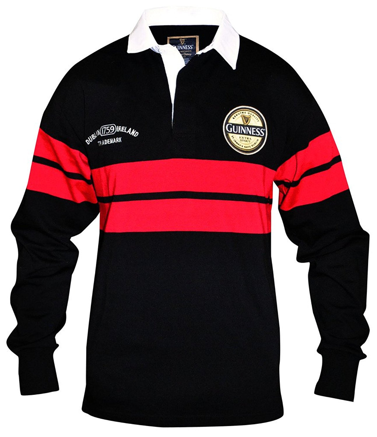1557134de1d Red And Black Striped Rugby Shirt - DREAMWORKS