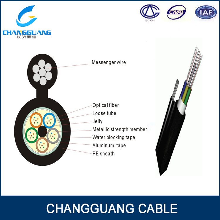 High Quality GYTC8A Self supporting Aerial Fibre Optic Cable,Figure 8 Cable Fibra Optica