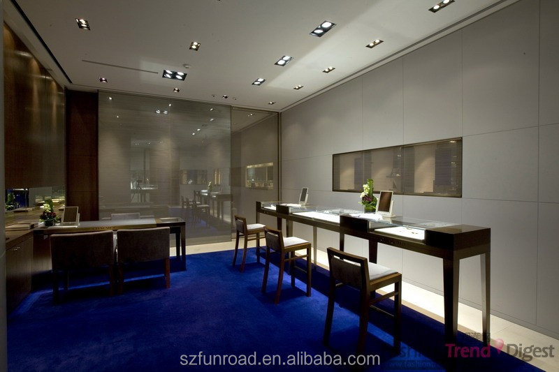 Jewelry Shop Interior Design Showroom Display Booth Exhibition Showcase For Hot Sale