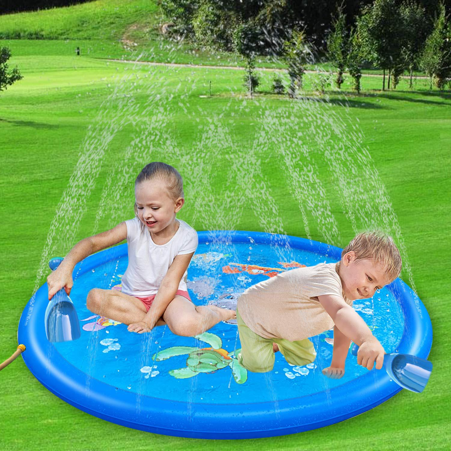 2019 Eco-friendly Sprinkle and Splash Play Mat spray water mat for kids play outdoor splash pad