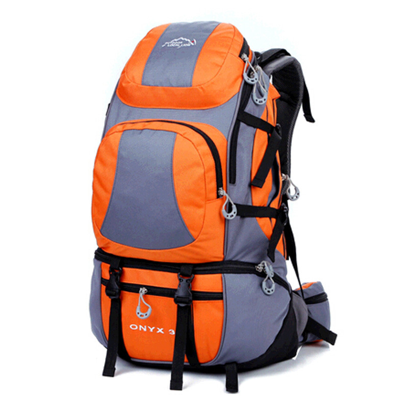 40L Large Capacity Unisex Outdoor Nylon Climbing Backpack Travel Sport Mountaineering Bag Zipper Waterproof Leisure Hiking