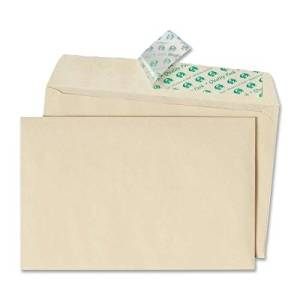 Quality Park Greeting Card/Invitation Envelope - Announcement - 5.75quot; x 8.75quot; - Peel amp; Seal - 100/Box - Ivory