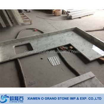 Seam Ready Made Granite Countertops New Kashmire White Prefab Granite  Countertop